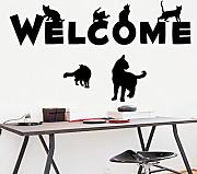 BB.er Wall Stickers Creative Inglese Black Cats