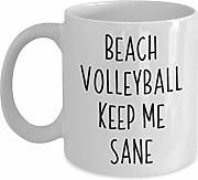 Beach Volleyball Gift Mug Funny Saying Beach