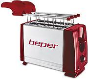 Metal Beper BT.001R Tostapane con Pinze 750 W Red