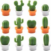 BESTONZON 12pcs Magnetic Fridge Stickers Cactus