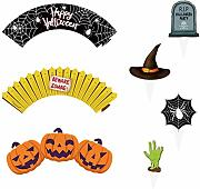 BESTONZON 24pcs Decorazioni di Halloween Toppers