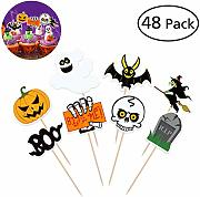 BESTonZON 48PCS Decorazioni di Halloween Toppers