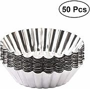 Bestonzon 50PCS Egg Tart Mold mini cupcake