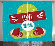 BHWYK Hug Curtains, I Love Warm Hugs Words with