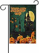BI HomeDecor Outdoor Yard Flag,Halloween Ghost