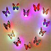 BIEE 12 Pz 3D Butterfly LED Night Lights