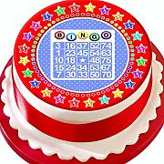 Bingo Red Star Border pretagliato 19 cm topper