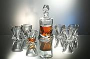 Bohemia Quadro - Set di decanter in cristallo da
