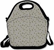 Borsa Termica Grey Cute Dog Paw Lunch Tote Bag