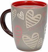 BRANDANI TAZZA CAFFE PANAREA BIANCO-COBALTO SET 2 PEZZI IN STONEWARE 54513