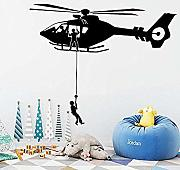 Brillint Yy Cartoon Air Force Helicopter Wall