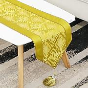 BTBD Runner da Tavolo Jacquard Arancione Tea Table