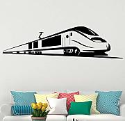 Bullet Train Wall Stickers Home Decor Rimovibile