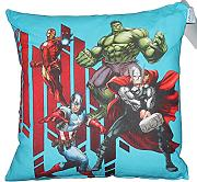 by PERLARARA - CUSCINO ARREDO cm 42 x 42 CAMERETTA ORIGINALE AVENGERS CIVIL WAR NOVIA by MARVEL (BLU/ROSSO)