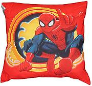 by PERLARARA - CUSCINO ARREDO cm 50 x 50 CAMERETTA ORIGINALE SPIDERMAN NOVIA by MARVEL AVENGERS CIVIL WAR (ROSSO/GIALLO)