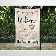 BYRON HOYLE Welcome With Family Name Garden Flag