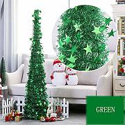 CAIXIN Pop Up Tinsel Albero di Natale,con