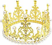 Cake Topper Cake Topper King Crown Crystal Pearl
