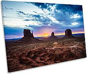 Canvas Geeks Monument Valley Sunset singola tela