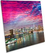 Canvas Geeks New York City Dramatic Sunset Square