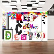 Carta Da Parati Fotomurale - Keep Calm And Design