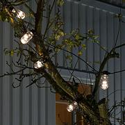Catena luminosa Biergarten 10 tubi LED luce calda