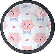 Cats with Bows and Hearts armadio tira maniglie