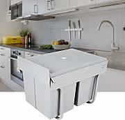 Ecolfil 134B1 18+8+8 L Pattumiera estraibile da cucina per sottolavello con 3 Secchi