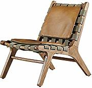 Chaise longue in tessuto industriale in pelle,