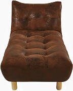 Chaise longue trasformabile marrone in similpelle