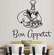 Chef Wall Vinyl Decal Chef Ristorante Cucina