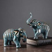 Chitty Room Decoration Coppia Blue Elephant