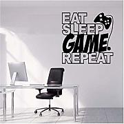 Citazioni di design creativo Eat Sleep Game Ripeti