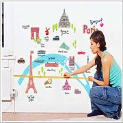 City Wall Stickers French Scenery Green Living
