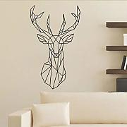 Cmdyz Geometrydeer Wall Sticker Per Camera Dei