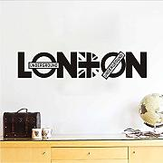 Cmdyz Rimovibile Home Decor Diy London Wall