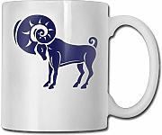 Coffee Mugs Idea Blue Aries Ceramic Tea Cup