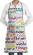Color Words Grembiuli da cucina unisex Grembiule