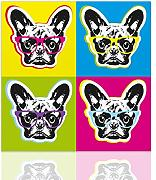 Colorscrazy Quadro Bulldog francese pop art -