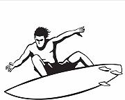 Cool Boy Surfing Stickers murali Adesivi in