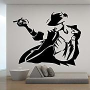 Cool Man Pattern Wall Sticker Wall Stickers Wall