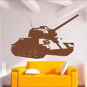 Cool Style Army Tank Sticker Decalcomania Del