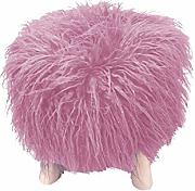 COTTON WOOD Pouf trepied Folie Rosa Pale