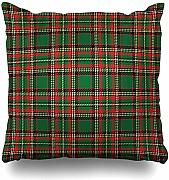 Couch Cushions Red Plaid Christmas Tartan Yellow
