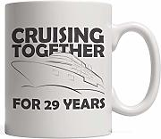 Cruising Together for 29 Years Mug - Nautical 29th