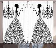 Curtains for Living Room Decor, Madame Butterfly