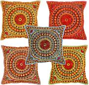 Cuscini Decorativi Indiano 40x40 Vintage Etnico Cushion Cover colorato federe cuscino Cotone Pillow Case By Rajrang