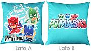 CUSCINO ARREDO cm 40x40 CAMERETTA ORIGINALE PJ MASKS by NOVIA (HERO TURCHESE)