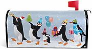 Cute Penguins Magnetic Mailbox Cover Mailwraps,