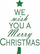 Czxmp We With You A Merry Christmas Wall Sticker